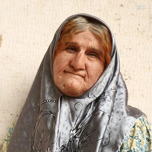 گریم محسن تنابنده در فیلم ابله - گریم محسن تنابنده در نقش پیرزن