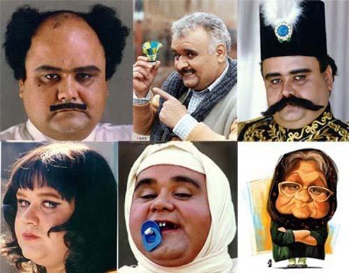 گریم های متفاوت اکبر عبدی